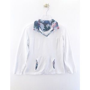 tommy bahama / aruba floral white collar pullover